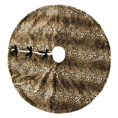 34th & Pine Luxury Plush Faux Fur 52'' Christmas Tree Skirt - Leopard / Cheetah by 34th & Pine (Image #1)