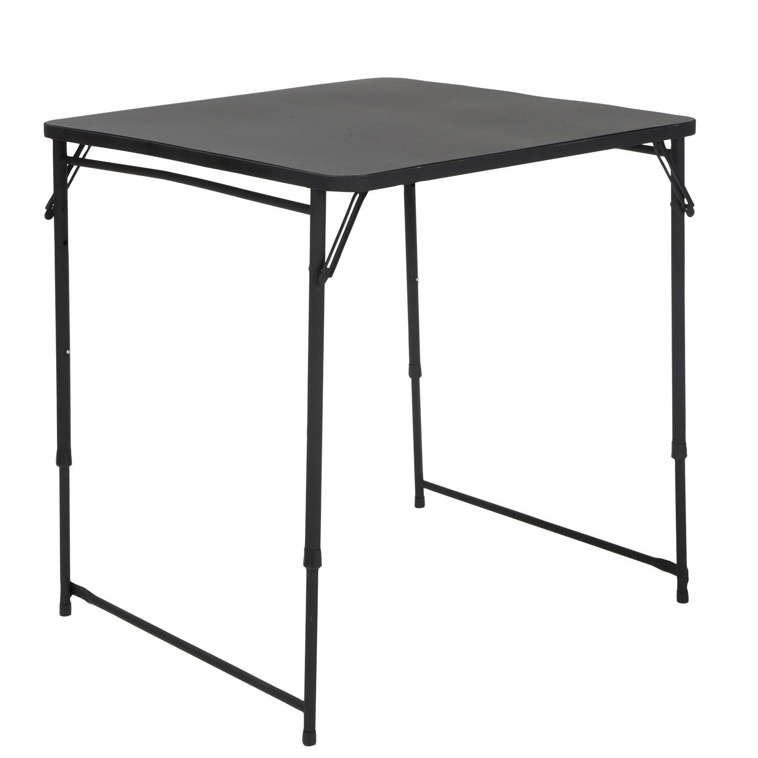Cosco 34 Square Adjustable Height PVC Top Table, Black