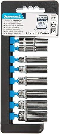 "Socket Set 1//2/"" Drive Metric 12pt Deep Bi Hex Corrotion Resistant Socketset 10Pc"