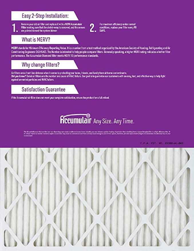 Nordic Pure 10x20x1 MERV 10 Pleated AC Furnace Air Filters 2 Pack