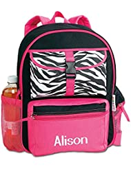 Zebra Personalized Kids Backpack by Lillian Vernon