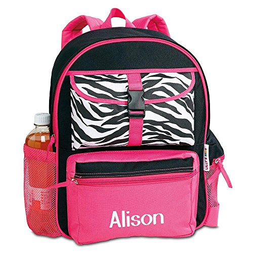 Zebra Personalized Kids Backpack by Lillian Vernon (Personalized Zebra)