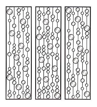 Amazon.com: Deco 79 Metal Mirror Wall Decor (Set of 3), 36 by 10 ...