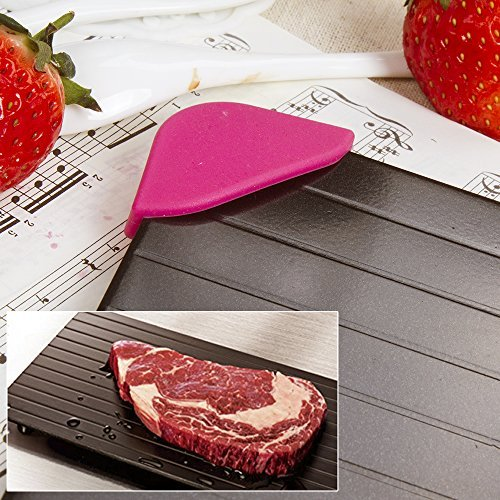 Cook@Home Fast Defrosting Tray - The Safest Way to Defrost Meat or Frozen Food Quickly Without Electricity, Microwave, Hot Water or Any Other Tools (Pink) (The Best Way To Defrost Meat)