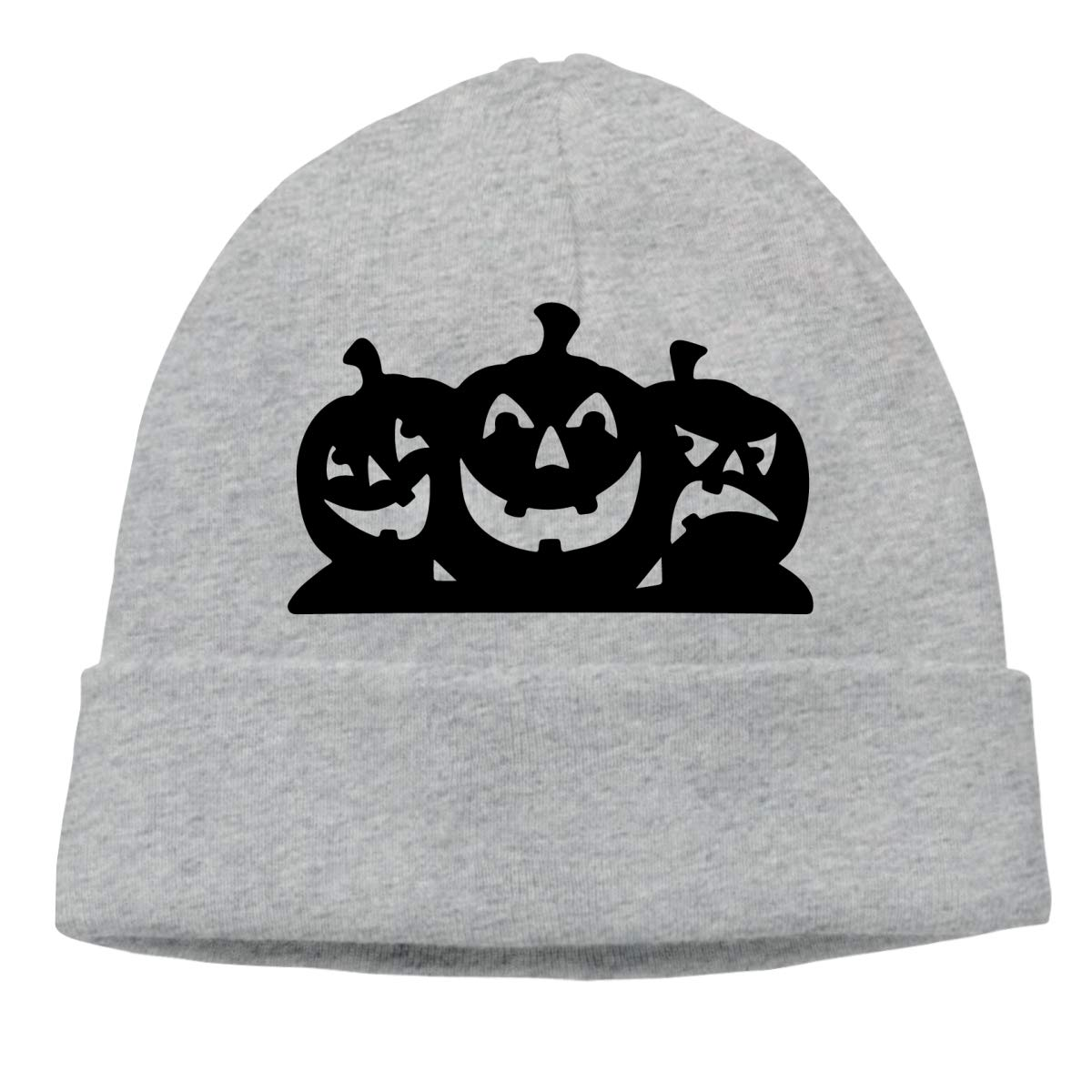 Mens and Womens Skullies Beanies Pumpkins Silhouette Classic Skull Cap Sports /& Outdoors Knit Hat Gray