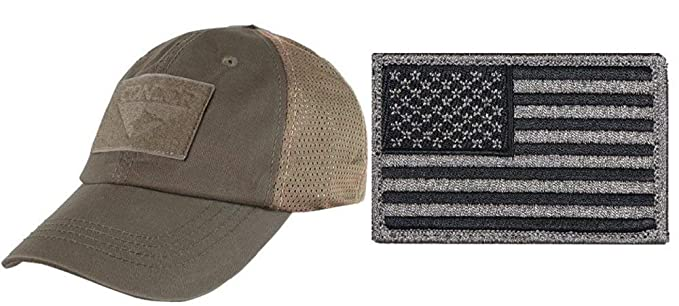 Image Unavailable. Image not available for. Colour  Ultimate Arms Gear  Condor Mesh Brown Cap USA Flag Patch ... dc884727402