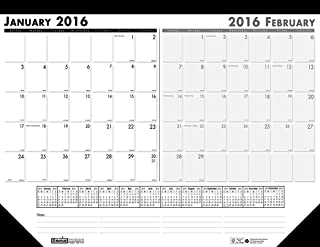 """product image for House of Doolittle 2016 Two-Month Desk Pad Calendar, 22""""x17"""" (HOD134-16)"""