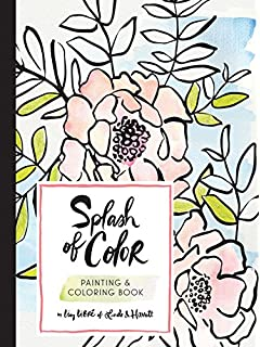 splash of color painting coloring book - Watercolor Coloring Book