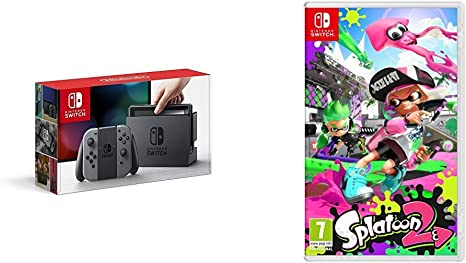 Nintendo Switch - Consola Color Gris + Splatoon 2: Amazon.es ...