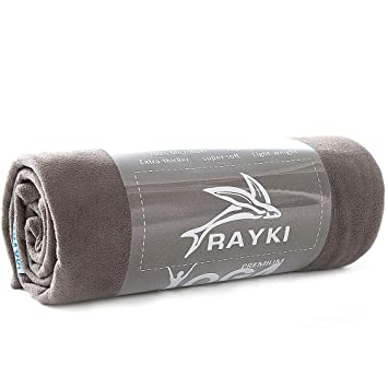 Rayki Non Slip Yoga Towel Mat,Absorbent and Lightweight Fitness Mat 72