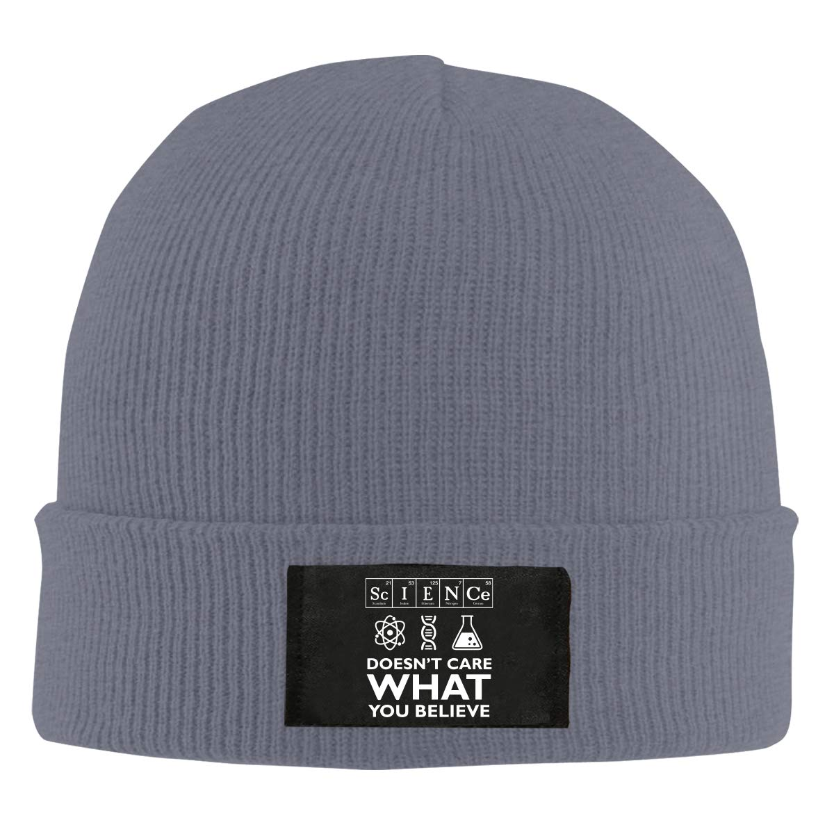 Science Doesnt Care What You Believe Women and Men Knitted Hat Comfortable Beanie Cap