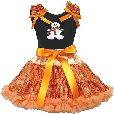 Navidad Vestido Jengibre Hombre Negro Camisa Naranja Falda de ...