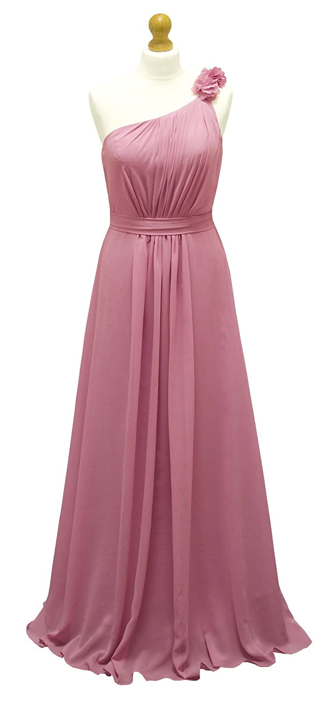 A-Line/Princess Flower Chiffon Evening Prom Bridesmaid Dress-LWH ...