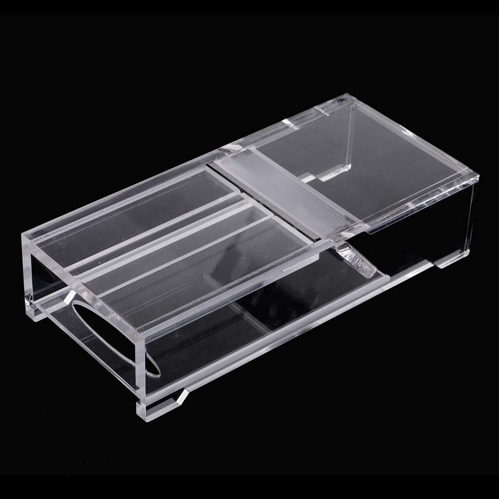 Fenteer Moule /à Savon en Acrylique Transparent Coupe-Savon Rectangle Raboteuse /à Chanfreiner pour Fabrication de Savon Fait /à La Main