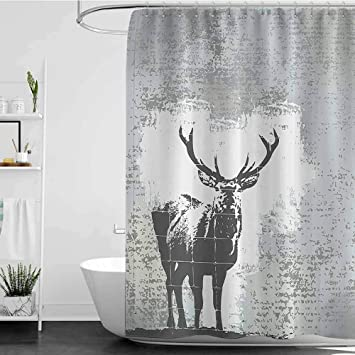 Shower Curtains That Open In The Middle.Amazon Com Shower Curtains That Open In The Middle Antlers