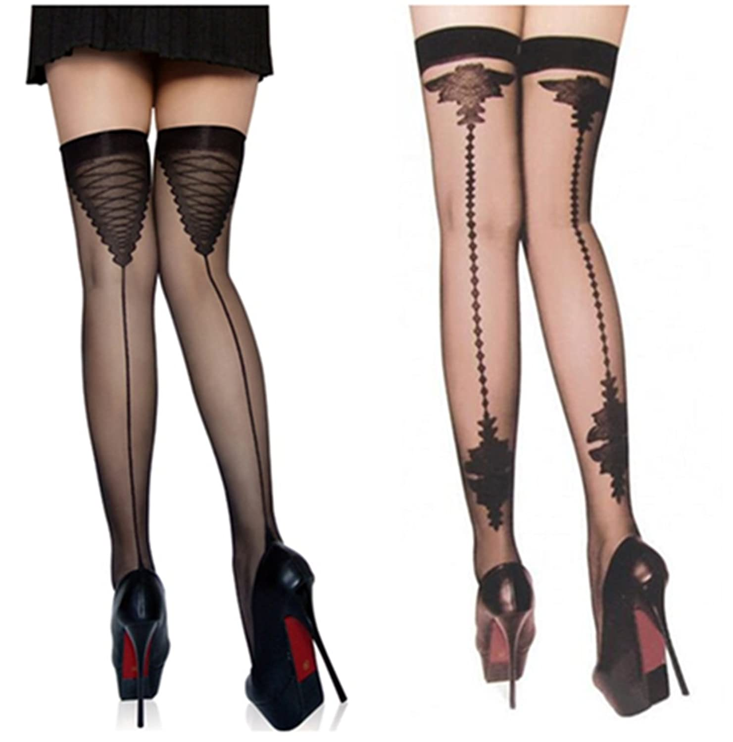 8a4f31975980c Online Cheap wholesale Vintage Nylon Stockings Cuban Sheer Thigh Highs With  Back Seam Heel Stockings For Women Garter Black Hosiery Suppliers