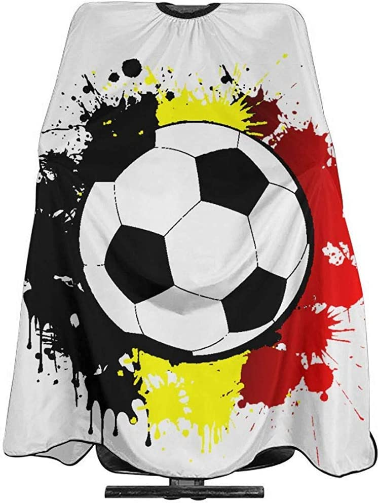 Barberos Delantal Balón De Fútbol Bandera De Bélgica Corte De Pelo ...