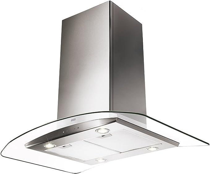 Franke Glass Soft FGC 906 I XS Campana para Isla de cocina Acero inoxidable Ancho de cristal 90 cm: Amazon.es: Grandes electrodomésticos
