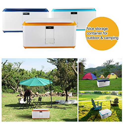 EVERTOP Extra Large Deck Box for Home, Office, Car, White with Code Lock (A-Orange) by EVERTOP (Image #9)