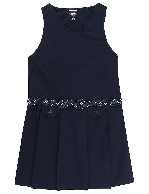FRENCH TOAST School Uniform Girls Polka Dot Bow Belted Jumper - Y9225 SY9225