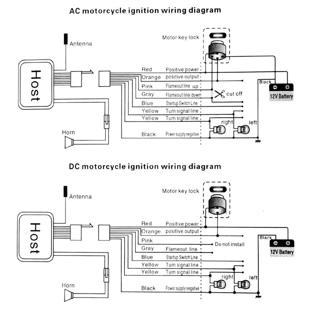 Rupse Waterproof Motorcycle Remote Control Alarm Warner 12v Wiring Diagram Anti Theft Security Burglar System Automotive