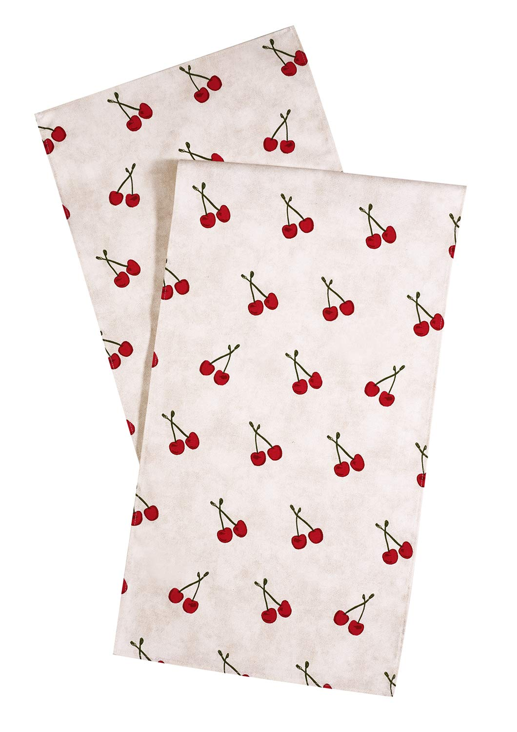 Table Runner Table Linens Dining Tablecloth Red Cherries Buffet Table Covers Dining Table Decorations 90 Inch