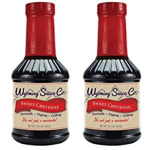 Wyoming Sauce Co Premium Sweet Cheyenne Marinade 2 Pack, Unique Gourmet Marinades Taste (2)