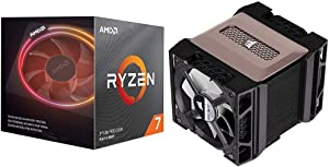 AMD Ryzen 7 3700X 8-Core, 16-Thread Unlocked Desktop Processor with Wraith Prism LED Cooler with Corsair A500 High Performance Dual Fan CPU Cooler, CT-9010003-WW