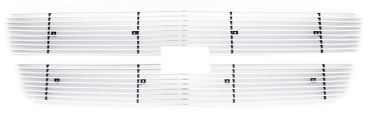 TRex Grilles 21100 Horizontal Aluminum Polished Finish Billet Grille Insert and Overlay for Chevrolet Silverado