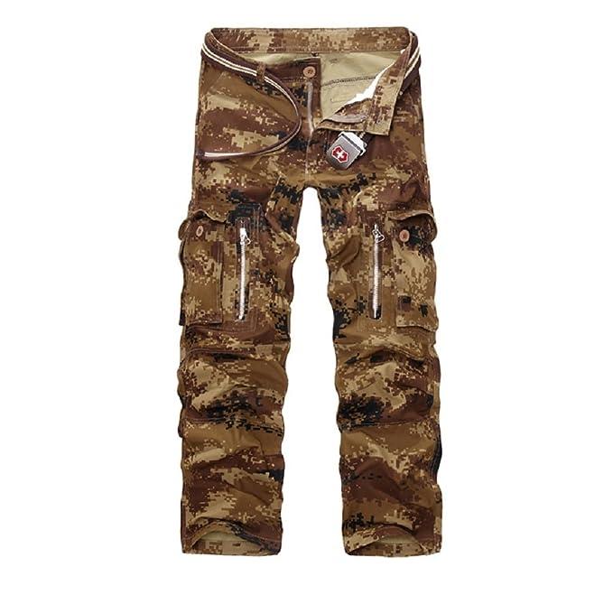 48025c3ebb AYG Hombre Pantalon Cargo Pants Camuflaje Pantalones Casuales Work Trousers  29-40  Amazon.es  Ropa y accesorios