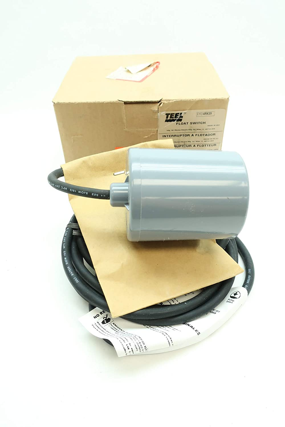 TEEL 4RK29 10PMD1WP Float Switch D645025: Amazon.com: Industrial & Scientific