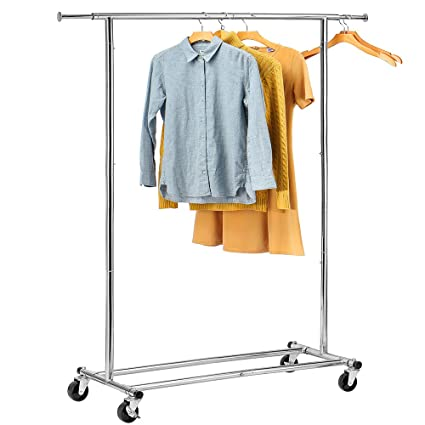 Amazon.com: HOUSE DAY Portable Clothing Garment Rack Heavy Duty