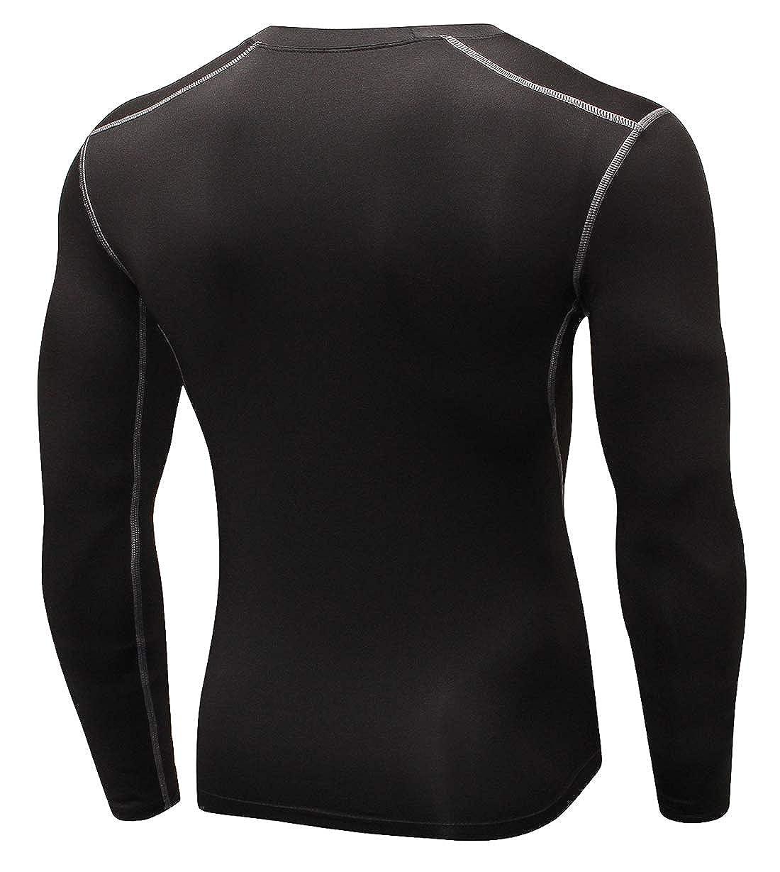 6e9b2530b Diyo Men's Base Layer Tops Long Sleeve Wicking Crew Neck Shirts