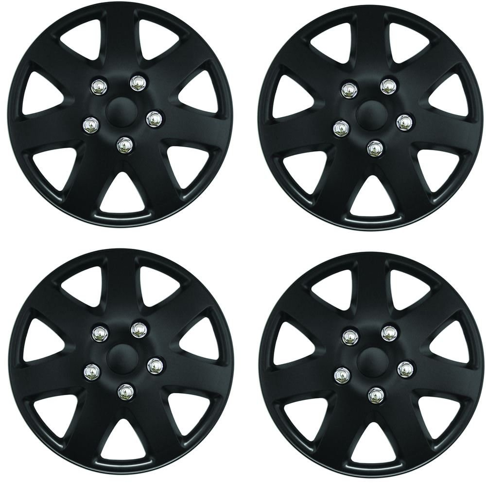 "NISSAN MICRA CONVERTIBLE Tempest 14"" Car Wheel Trims Hub Cap Plastic Cover Black Wing Mirrors World"
