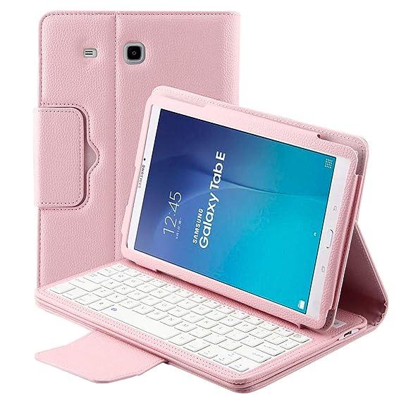 8add9b7d695 Funda de teclado desmontable para Samsung Galaxy Tab E SM-T560 9.6 Tablet  delgada de
