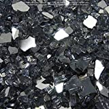 Starfire Glass 10-Pound (Fire Glass) 1/4-Inch Gunmetal Reflective