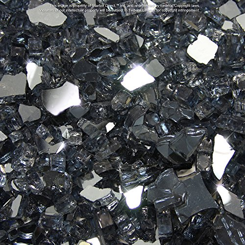 Starfire Glass 10-Pound (Fire Glass) 1/4-Inch Gunmetal (Pit Gun)