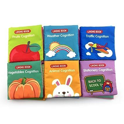 Amazon.com: Set de regalo de juguete suave para bebés con 6 ...