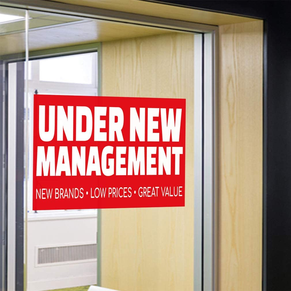 Low Prices Decal Sticker Multiple Sizes New Management Great Value Business Under New Management Sandwich Banner Outdoor Store Sign Red Set of 2