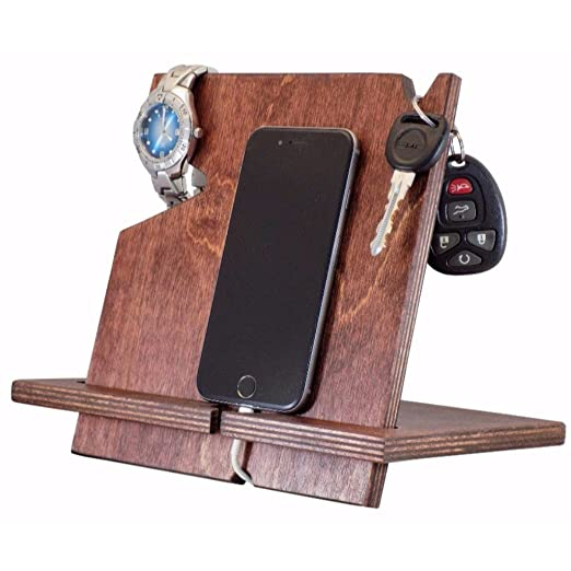 Amazon.com: Wooden Cell Phone Docking Station, Unique for ...