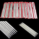 """YSTD® New 55Pcs 11sizes 7.9"""" 20cm Stainless Steel Double Pointed Knitting Needles Tool"""