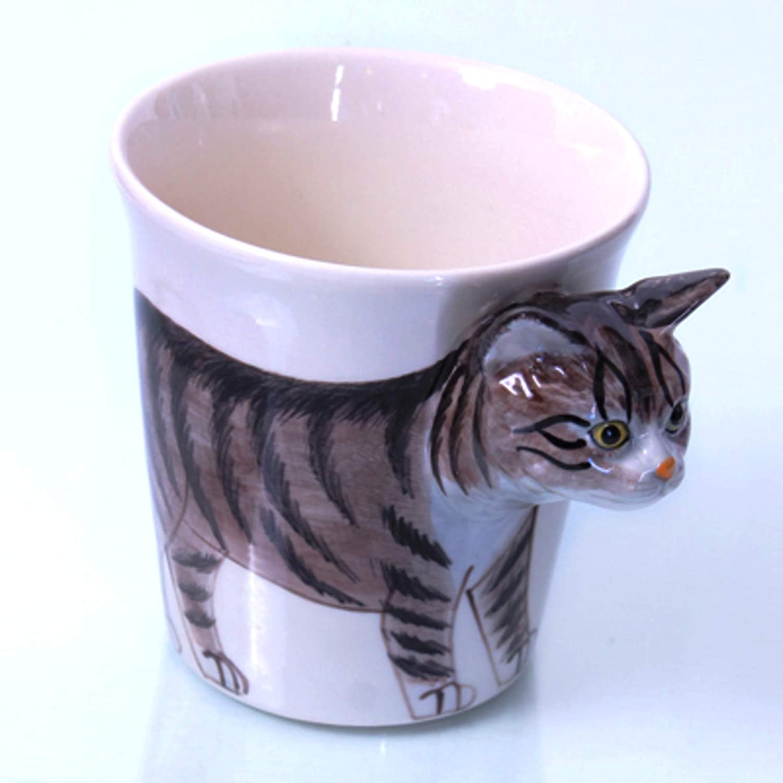 Katze Tasse Keramik Tier Tasse als Geschenk für Tierliebhaber ...