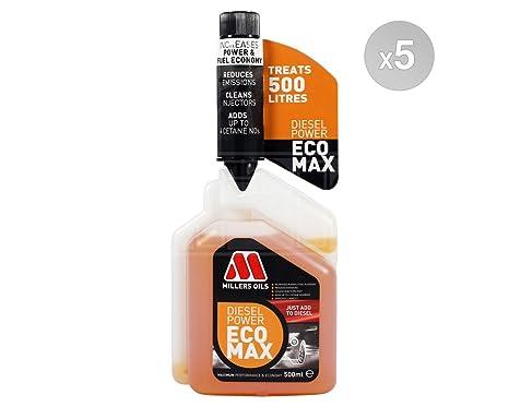 Millers aceites Tratamiento de Combustible Diesel Potencia Ecomax – 5 x 500 ml