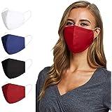 Fashion Washable Reusable Contoured Mask set of Four Free Size