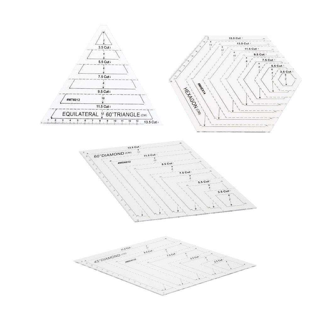 Sharplace 4pcs Quilting Righelli Modelli Di Taglio per Cucito Cucire Mestiere DIY