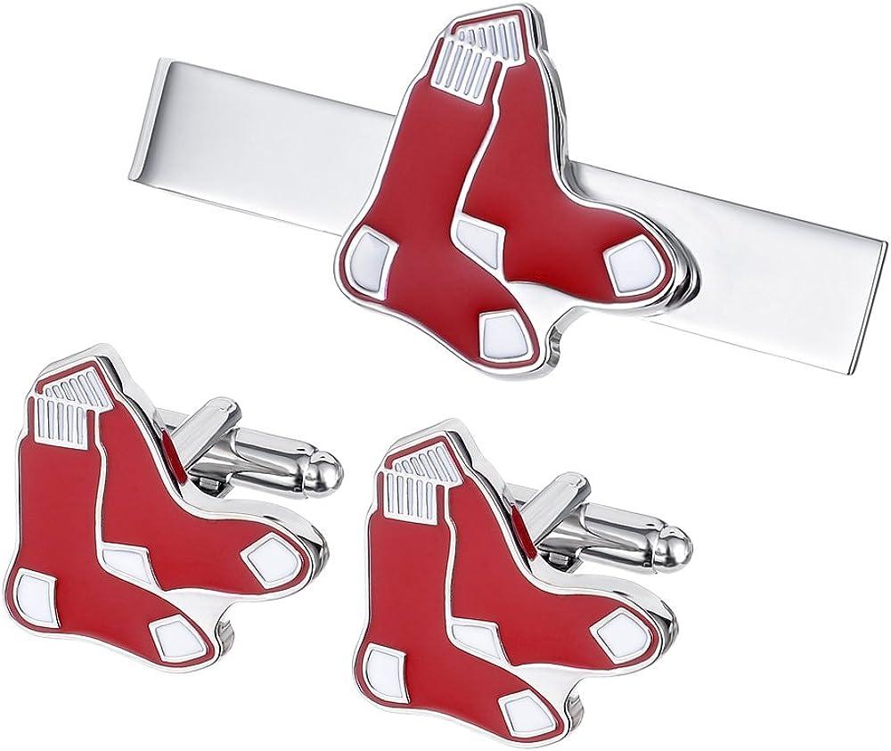 Promotioneer Men's The Team Logo Symbol Series Cufflinks and Tie Clip Tie Bar