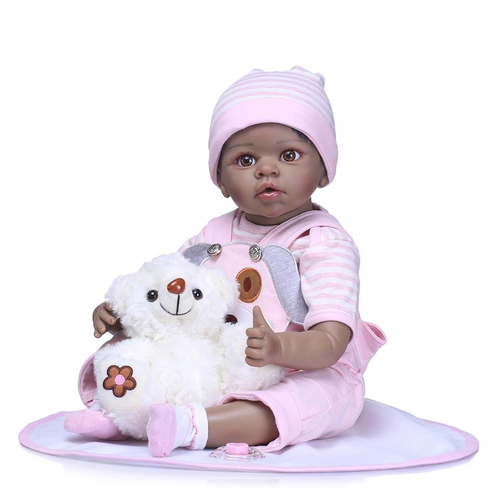 chinatera NPK Cute 22inch Soft Silicone Reborn Baby Doll Imitation Newborn Girl Toys