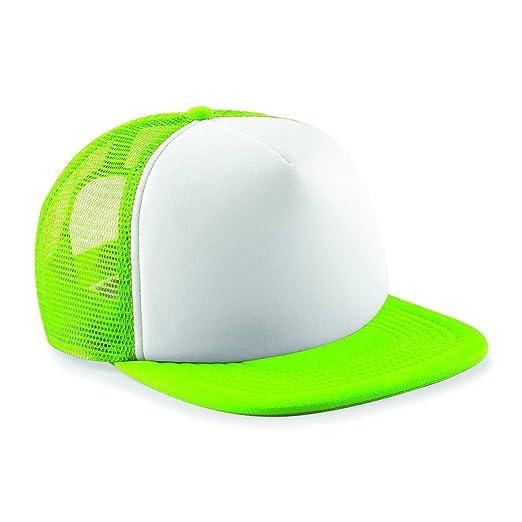 Amazon.com: Beechfield Vintage Snapback Trucker - Lime Green/White: Clothing
