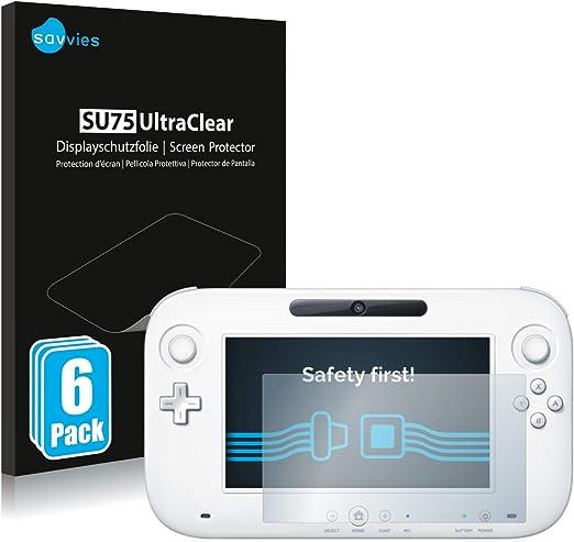 savvies Protector Pantalla Compatible con Nintendo Wii U Gamepad ...