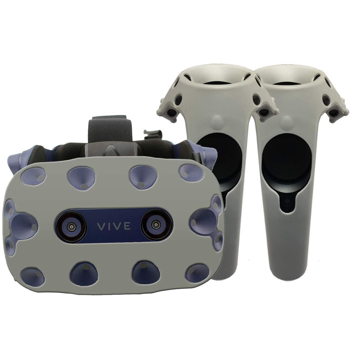 Auriculares y mandos Gris Funda de protecci/ón HTC Vive Pro Silicona
